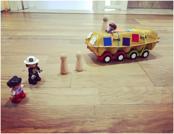 activities for toddlers, upcycled bus