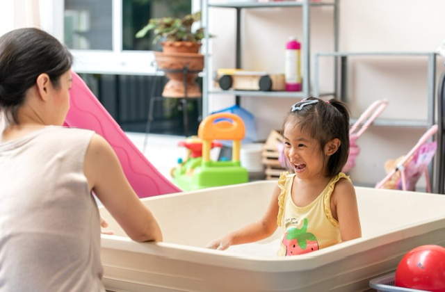 language opportunities at bathtime