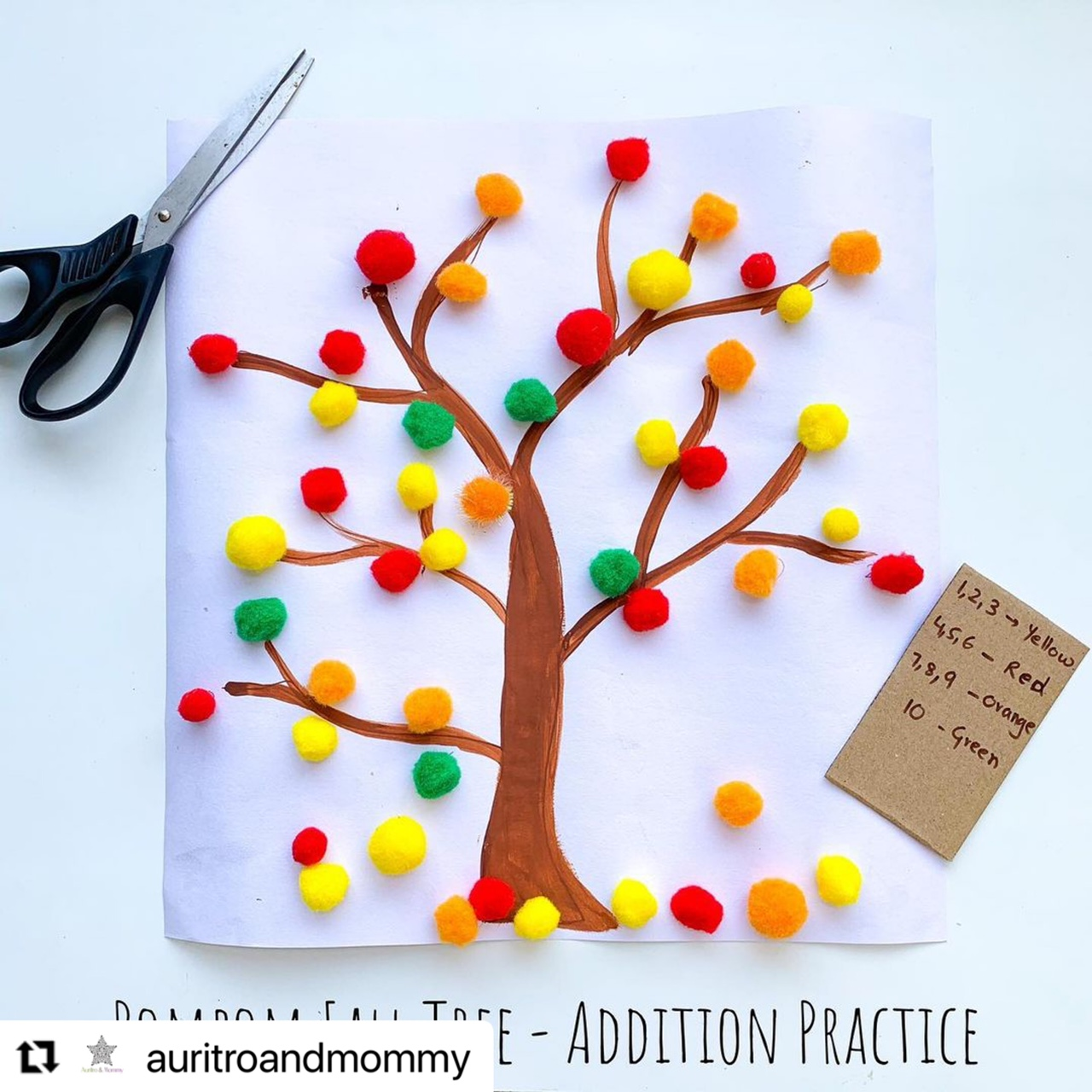Autumn activity for toddlers