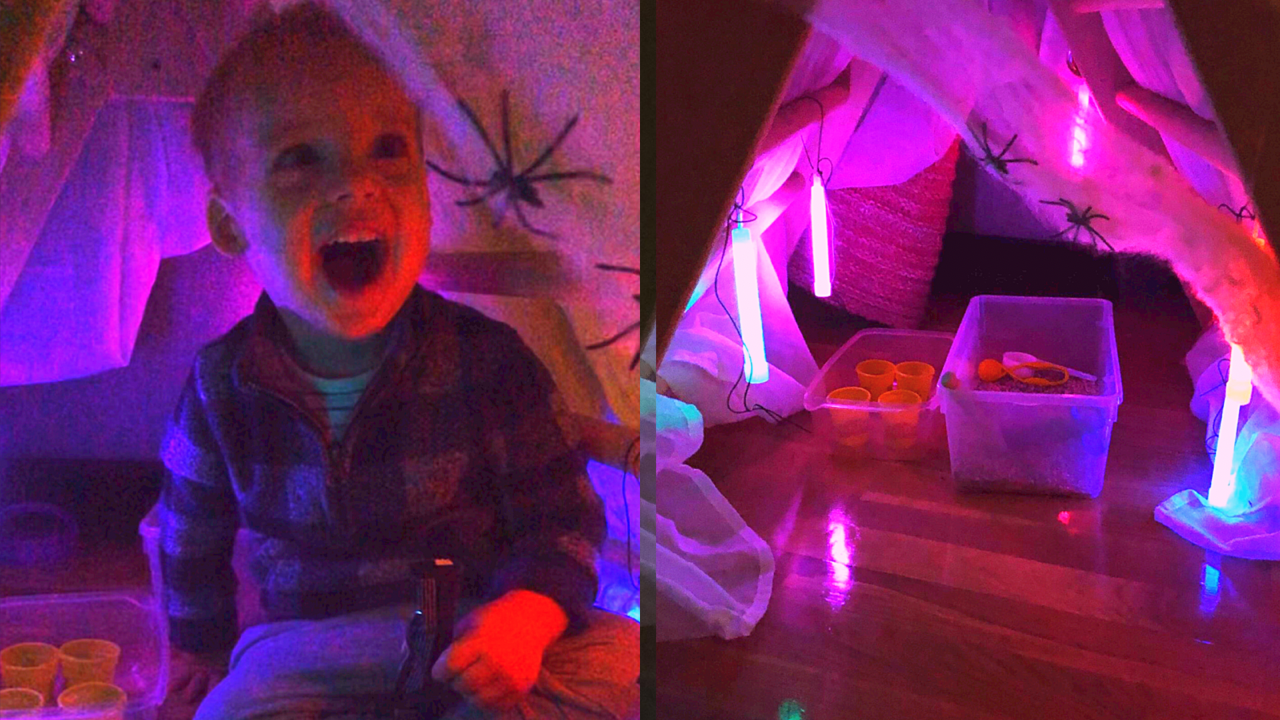 Halloween den for toddlers