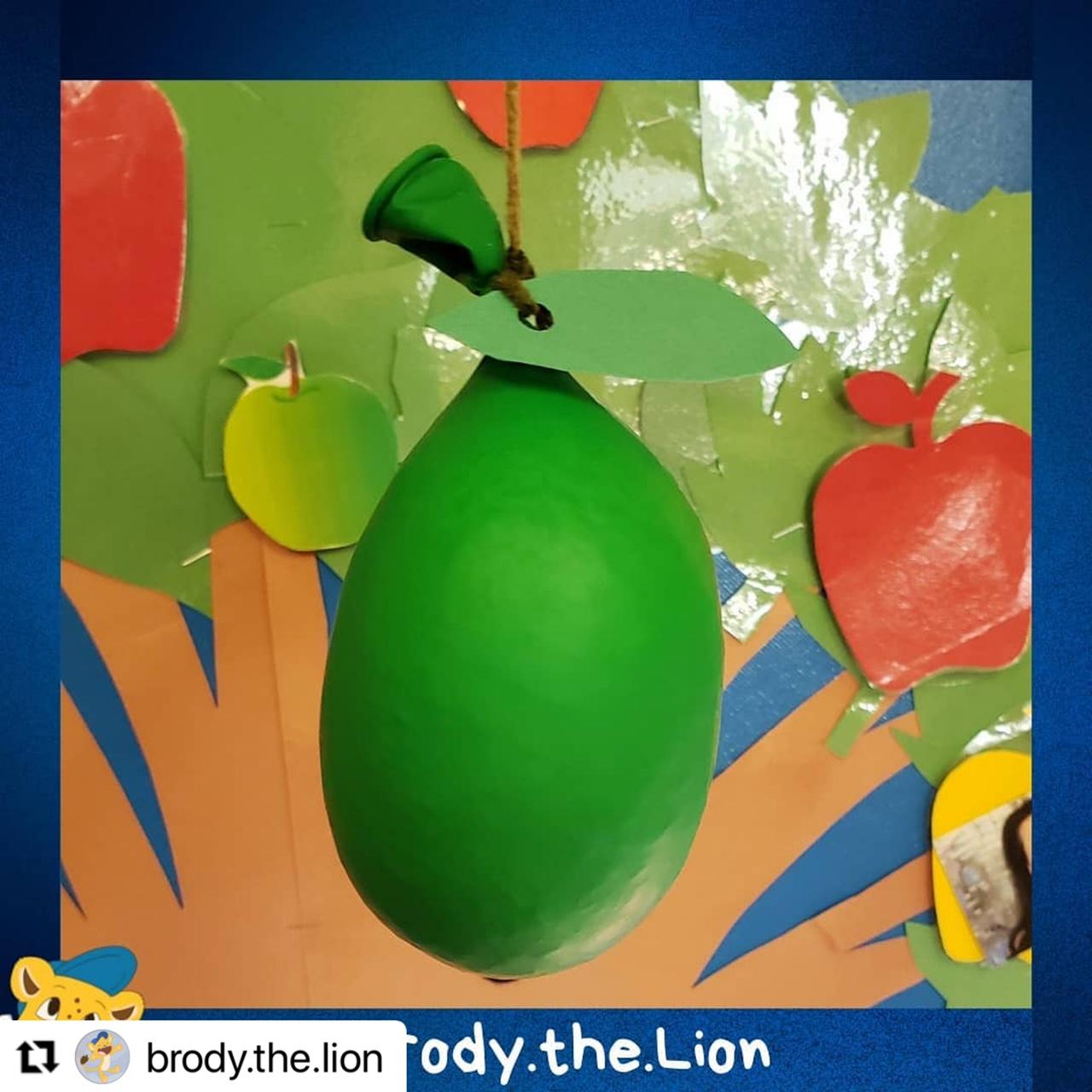 Sensory apple balloons