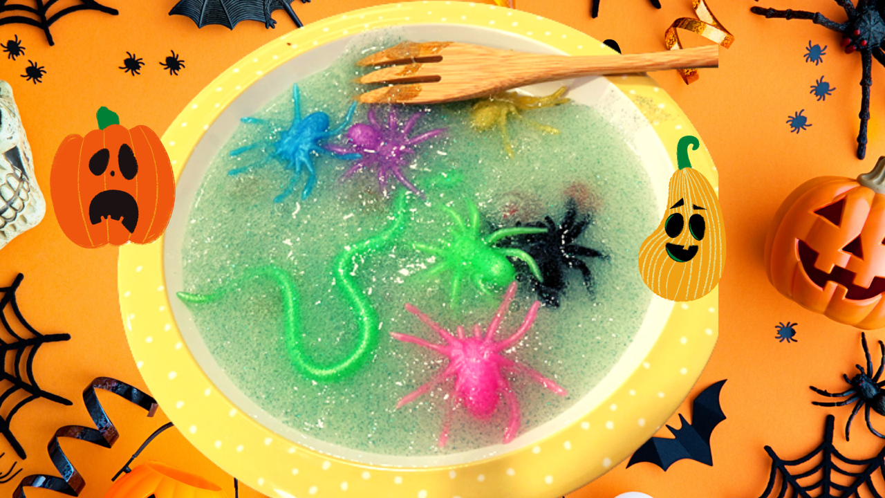 Halloween slime activity for toddlers