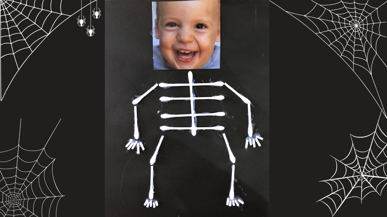 Skeleton craft activity for toddlers