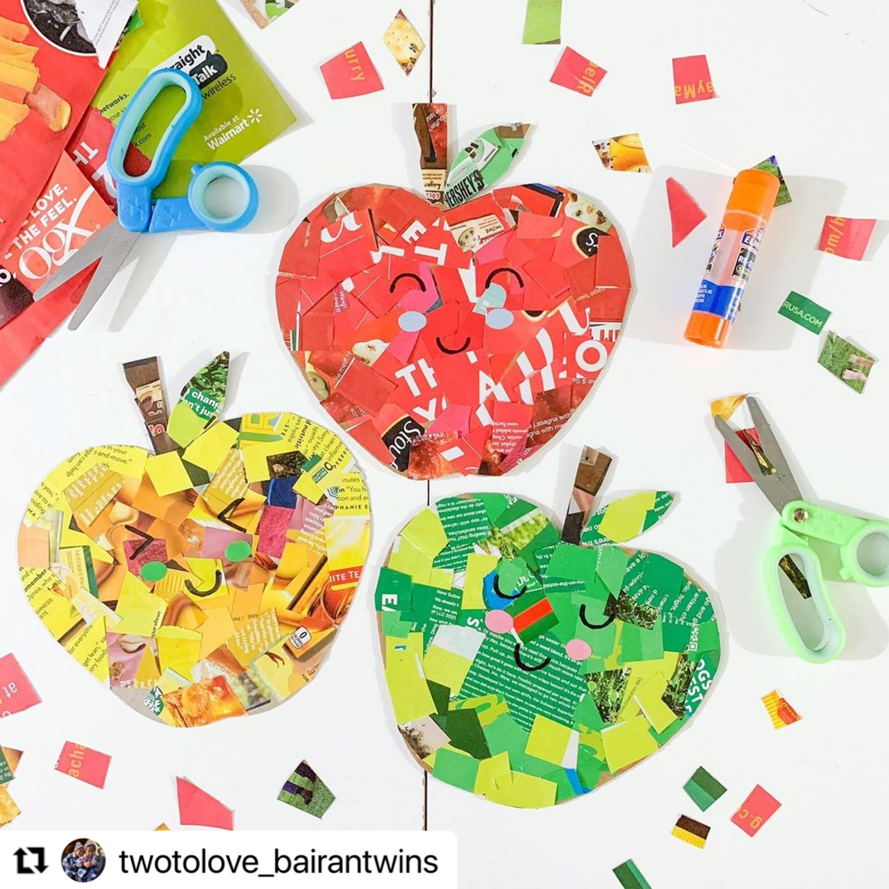 Best Autumn Apple collage for Toddlers